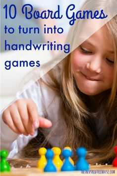 The Inspired Treehouse - Turn these awesome board games into handwriting games to increase interest and entice reluctant writers!