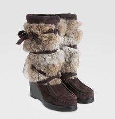 Brown Short Wedge Mukluk Boots £210