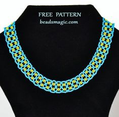 Beads Magic - free beading patterns and everything about handmade jewelry: beads patterns, schemas, photos, ideas, inspiration. - Part 6 Bead Embroidery Patterns, Beading Patterns Free, Free Pattern, Bead Patterns, Knitting Patterns, Crochet Patterns, Weaving Patterns, Embroidery Bracelets, Beaded Embroidery