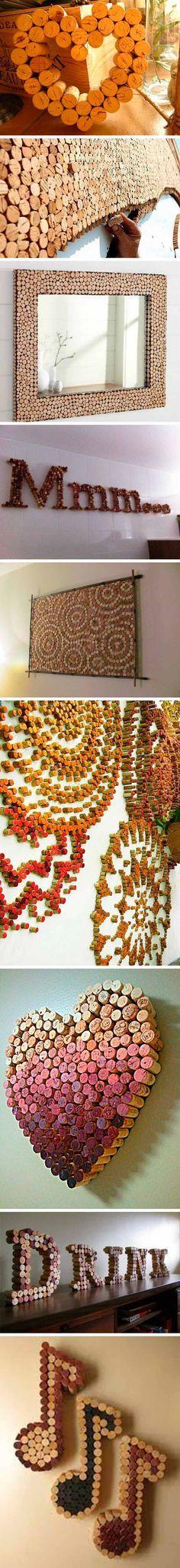 reciclar tapones de corcho - decoracion 2corcho