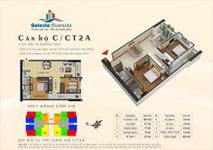 Căn hộ C, 2 phòng ngủ. Tòa căn hộ CT2A - Chung cư Gelexia Riverside - 885 Tam Trinh