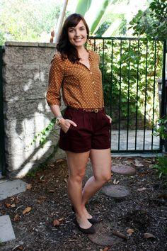 Maroon-lauren-conrad-shorts-dark-brown-old-navy-flats_400