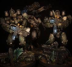 Tau Battlesuit, Tau Army, Tau Warhammer, Tau Empire, Future Soldier, The Grim, Paint Schemes, Decoration, Board Games