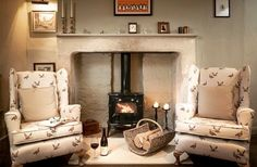 Stoke the fire, boil the kettle, open a good book & batten down the hatches .. it's a stormy day outside ! x {image via @uniquehomestays} #uniquehomestays #englishhome #fireplace #englishcottage #inglenook #englishchair #cottage #countryhome #countryhouse #farmhouse #countrycottage #periodhome #countryliving #cottagelife #cottageliving #sittingroom #interiordesign #upholstered #upholstery #wingbackchair #countrydecor #englishcountryhouse #interiordecor #decor #englishfarmhouse…