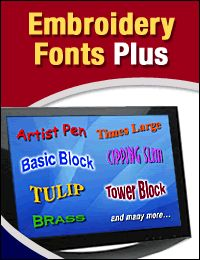 Embroidery Fonts Plus by EmbroideryDesigns.com - freeembroiderystuff.embroiderydesigns.com