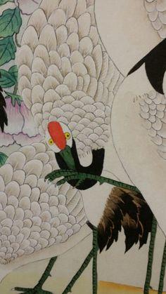 제6회 대한민국 전통채색화 공모대전 입상작과 특별 초대작가전 : 네이버 블로그 Oriental, Japanese Crane, Korean Painting, Chinese Style, Folk Art, Rooster, Disney Characters, Fictional Characters, Culture