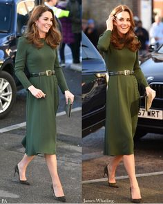 Today, The Duchess of Cambridge is visiting Family Action to launch their FamilyLine, a new confidential helpline for families. Duchess Kate, Duke And Duchess, Duchess Of Cambridge, Kate And Meghan, Royal Dresses, Kate Middleton Style, Prince William And Kate, Princess Kate, Royal Fashion