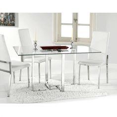 Mesa de comedor Verona, metal cromado · 167,35€