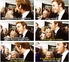Sam Claflin is adorable