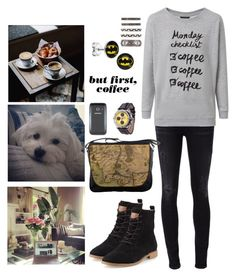 """""""Let's go on an adventure"""" by anna-fozo ❤ liked on Polyvore featuring Citizens of Humanity, TOMS and House of Harlow 1960"""