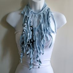 Indie Fashion and Beauty: DIY T-Shirt Scarves - How to Make Your Own