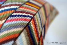 tichtach - en kreativ logbog: Det er kunst for mig Bargello, Free Knitting, Needlepoint, Needlework, Embroidery, Blanket, Inspiration, Crochet, By