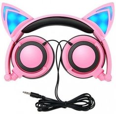 Cat Ear Headphones,Kids Headphones Cat Ear Headphones LED Flashing Lights Cosplay Fancy Cat Headphones Foldable Over-Ear Gaming Headsets Earphone with for iPhone Mobile Phone (pink) Gaming Earphones, Cat Headphones, Best Gaming Headset, Bluetooth Headphones, Computer Headphones, Pc Computer, Presents For Girls, Gifts For Teens, 3d Zeichenstift