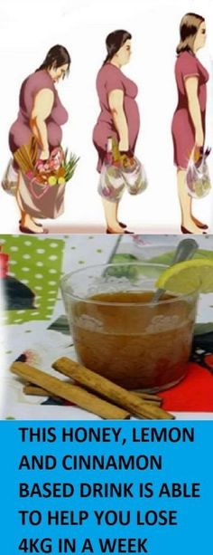 This Honey, Lemon, And Cinnamon Based Drink Is Able To Help You Lose 4kg In A Week