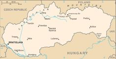Maps of Eastern Europe: Map of Slovakia European Map, European Countries, Schengen Area, Country Information, Central And Eastern Europe, Country Maps, Austro Hungarian, My Roots, Famous Landmarks