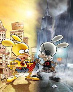 Leo Ortolani - Copertina Rat-Man Collection 43 (Colori Larry) Rat Man, Rats, Larry, Pikachu, Comics, Fictional Characters, Cartoons, Fantasy Characters, Comic