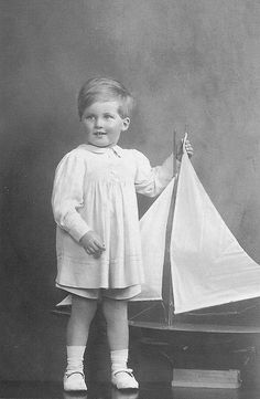 William Hay aged 2 years 8 months, with his boat,1923