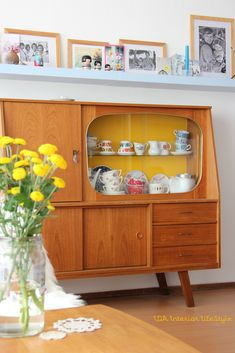 Re-purposed retro TV cabinet.