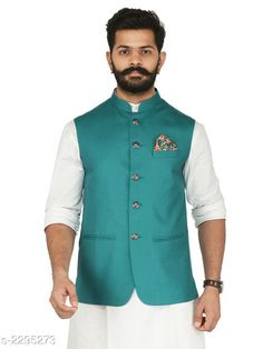 Ethnic Jackets Stylish Cotton Viscous Blend Printed Ethnic Jacket Fabric: Cotton Viscous Blend Sleeves: Sleeves Are Not Included Size: 36 in 38 in 40 in 42 in 44 in (Refer Size Chart) Length: (Refer Size Chart) Type: Stitched Description: It Has 1 Piece of Men's Ethnic Jacket Pattern:Solid Country of Origin: India Sizes Available: 36, 38, 40, 42, 44, 46 *Proof of Safe Delivery! Click to know on Safety Standards of Delivery Partners- https://ltl.sh/y_nZrAV3  Catalog Rating: ★4.2 (349)  Catalog Name: Men's Stylish Cotton Viscous Blend Printed Ethnic Jackets Vol 1 CatalogID_306072 C66-SC1202 Code: 118-2295273-