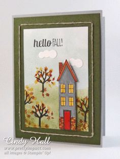 Stampin& Up! Holiday Home Bundle - Cindy Hall, Stampin& Up! Fall Cards, Holiday Cards, Christmas Cards, Ideas Prácticas, Card Ideas, New Home Cards, Scrapbook Cards, Scrapbooking, Thanksgiving Cards