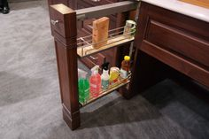 Have a small space to fill? How about a filler pull out from us? Seen at Hafele #KBIS2014