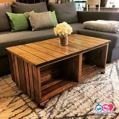 Most Creative DIY Coffee Table Furniture Project Ideas - Interior Decoration Accessories coffee tables Diy Crate Coffee Table, Coffee Table Furniture, Unique Coffee Table, Large Coffee Tables, Rustic Coffee Tables, Decorating Coffee Tables, Coffee Table Design, Pallet Furniture, Furniture Projects