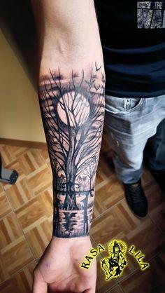 Studio Tatuażu i Kolczykowania Rasa Lila - Kielce, Bodzentyńska Forarm Tattoos, Forearm Sleeve Tattoos, Tribal Sleeve Tattoos, Forearm Tattoo Design, 3d Tattoos, Body Art Tattoos, Tattoos For Guys, Cool Tattoos, Dark Forest Tattoo