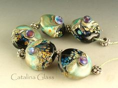 Oh my! Love everything about these beautiful handmade lampwork glass beads!