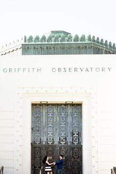 Griffith Observatory Engagement Session  #engagement #griffithobservatory #losangeleswedding #losangelesengagement Photo by Brandon Wong Photography