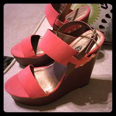 Brand new with tags wedge sandal New with tags so cute perfect sandal. Wear with everything this summer ! Rue 21 Shoes
