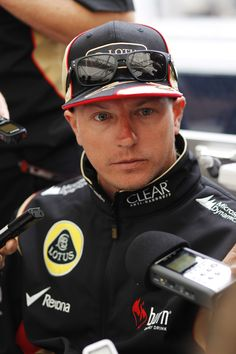 Kimi during a media interview #BritishGP