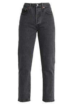 501 CROP - Jeans Straight Leg - dancing in the dark @ Zalando.dk 🛒, Levi's® 501 CROP - Jeans Straight Leg - dancing in the dark - Zalando. Best Jeans For Women, Pants For Women, Grunge Outfits, Fashion Outfits, Beste Jeans, Jeans Straight Leg, Old Dresses, Levis 501, Trousers