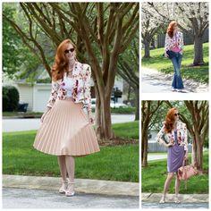 3 ways to wear a floral jacket. www.elegantlydressedandstylish.com