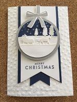 Beautiful handmade Christmas card with a sleigh. made # sleigh # christmas card- Homemade Christmas Cards, Christmas Cards To Make, Homemade Cards, Holiday Cards, Christmas Crafts, Christmas Christmas, Christmas Cookies, Beautiful Christmas Cards, Jingle All The Way