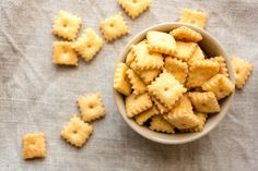 These look yummy :: Samantha Seneviratne from Love, Cake shows us how to make our favorite baked cheese crackers at home.