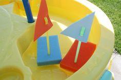 Floating sponge boats for transportation!  :)