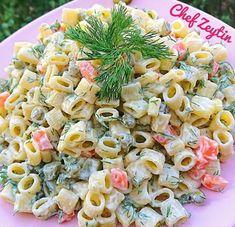 10 Second Caesar Salad Dressing This Ideas Macaroni Spaghetti, Pasta Recipes, Salad Recipes, Turkish Recipes, Ethnic Recipes, Food Carving, Pasta Noodles, Caesar Salad, Pasta Salad