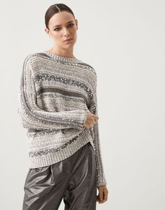 Dazzling sweater (211MAG371208) for Woman | Brunello Cucinelli Classy Women, Brunello Cucinelli, Slow Fashion, Online Boutiques, Pulls, Winter Outfits, Knitwear, Ready To Wear, Sweaters For Women