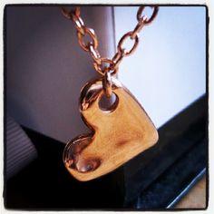 Love Heart   #rosegold #handmade #charm #bracelet
