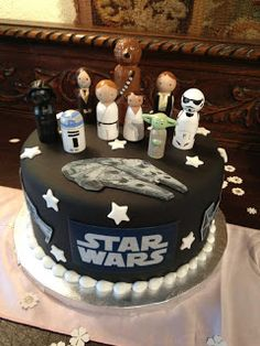 An awesome cake to make for a Star Wars party!