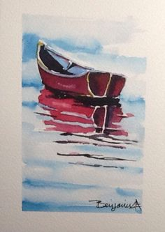 A personal favorite from my Etsy shop https://www.etsy.com/ca/listing/506941022/original-watercolour-painting-red-row