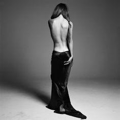 Helena Christensen     photo by Michel Comte; safe sex campaign, 1993