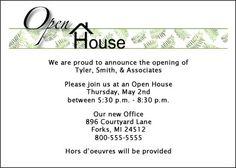 Open House Invitations, Wine Theme Card   Open house invitation ...