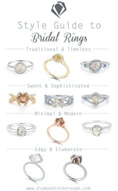 Traditional, sweet, minimal or edgy? You can always find a ring that matches your personal style at www.diamondintherough.com #engagementrings