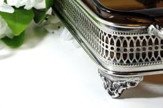 Silver Plate Loaf Pan Stand  Vintage Fire King by DinneratSeven
