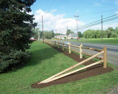 2 Rail Split Rail Fence Style