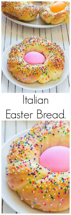 The Best Easter Recipes Italian Easter Bread! Look at how cute these Individual Italian Easter Bread rings are! This is a classic Easter day recipe that you must try (if you haven't already). Holiday Treats, Holiday Recipes, Christmas Recipes, Italian Easter Bread, Italian Bread, Italian Easter Cookies, Easter Recipes Italian, Italian Desserts, Easter Treats