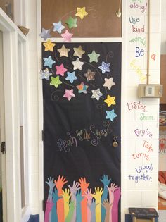 Reach for the stars door. Trace and use students hand for the bottom. Love this!!                                                                                                                                                                                 More
