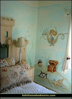 Decorating theme bedrooms - Maries Manor: underwater bedroom ideas - under the sea theme bedrooms - mermaid theme bedrooms - sea life bedroo...