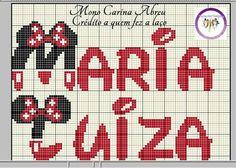 Maria Luiza mono Minnie ponto cruz
